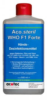 Hände-Desinfektion 500 ml Aco.steril WHO F1 Forte